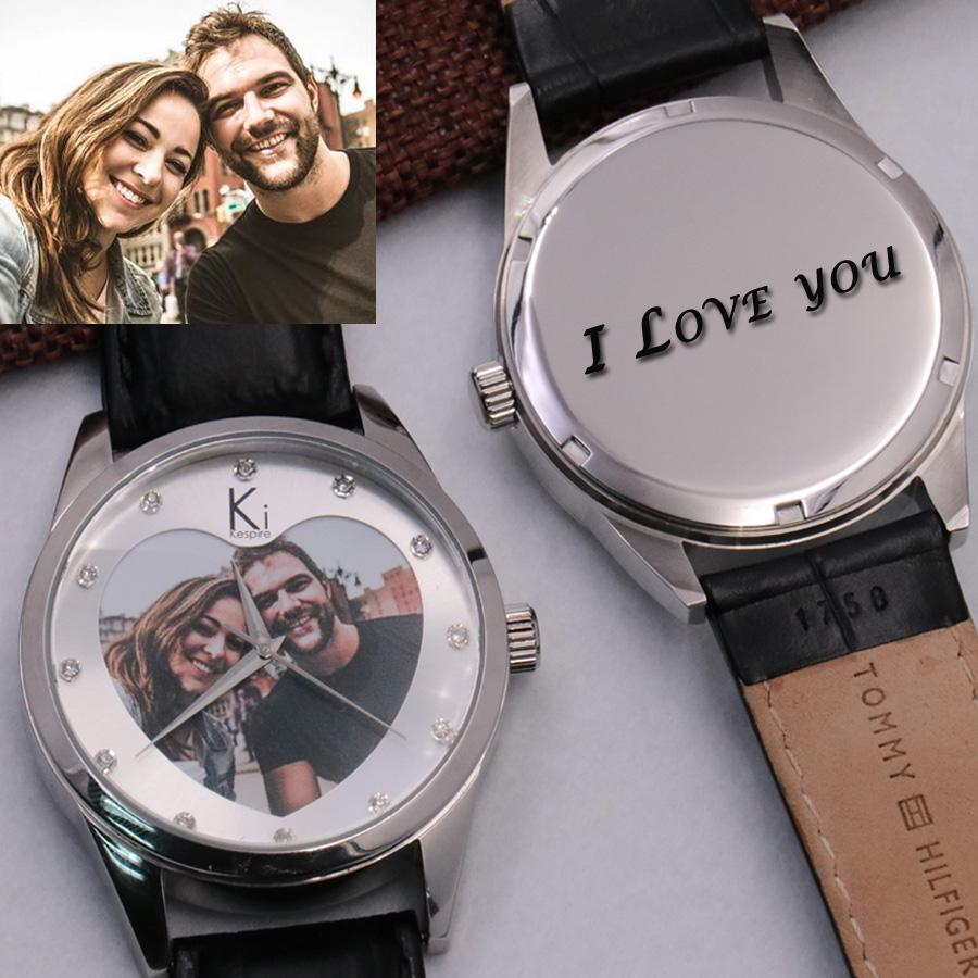 personalized watches waterproof fashion heart
